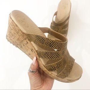 Crocs A Leigh Snake Wedge Sandal Size 10W